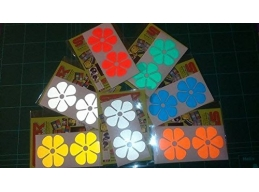Reflective Flowers stickers/decals | sag277 | Stick and Glow Reflective Decals