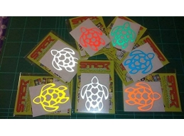Reflective Love Turtle stickers/decals | sag278 | Stick and Glow Reflective Decals