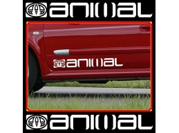 2x Reflective LARGE ANIMAL LOGO car graphic sticker decals Vinyl camper van surf | sag279 | Stick ..