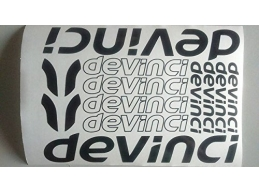 Reflective Devinci Die-cut decal / sticker sheet | sag299 | Stick and Glow Reflective Decals