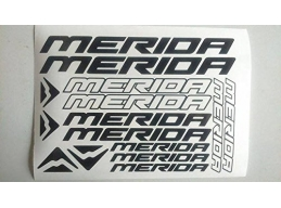 Reflective Merida Die-cut decal / sticker sheet cycling, mtb, bmx, road, bike | sag301 | Stick and..