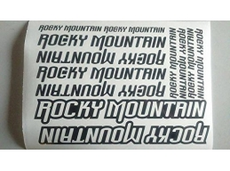 Reflective Rocky Mountain Die-cut decal / sticker sheet cycling, mtb, bmx, road, bike | sag302 | S..
