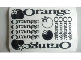 Reflective Orange Die-cut decal / sticker sheet cycling, mtb, bmx, road, bike | sag303 | Stick and..