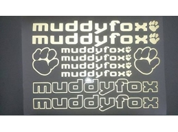 Reflective Muddy Fox Die-cut decal / sticker sheet cycling, mtb, bmx, road, bike | sag307 | Stick ..