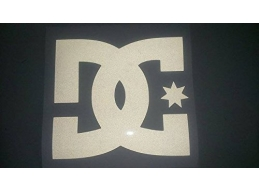 1x Wide Reflective DC SHOE COMPANY - Car, Truck, Notebook, Skateboards, Vinyl Decal Sticker | Stic..