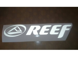 2x Reflective REEF SURF - Car, Truck, Notebook, Skateboards, Vinyl Decal Sticker by Surf Van Decal..
