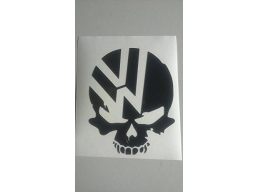 1x Reflective - VW skull volkswagen jetta gti beetle ghia golf window sticker vinyl decal | Stick ..