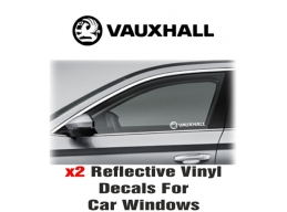 Vauxhall Window Decal Sticker Graphic - Reflective Vinyl x2 decals | Stick and Glow Reflective Dec..