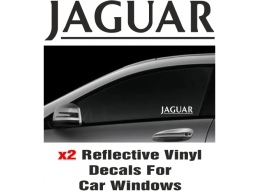 Jaguar Window Decal Sticker Graphic Reflective Vinyl x2 decals | Stick and Glow Reflective Decals