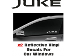 Nissan Juke Window Decal Sticker Graphic Reflective Vinyl x2 decals | Stick and Glow Reflective De..