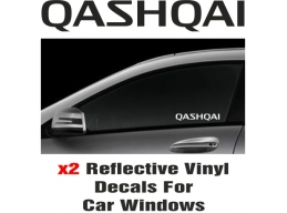 Nissan Qashqai Window Decal Sticker Graphic Reflective Vinyl x2 decals | Stick and Glow Reflective..