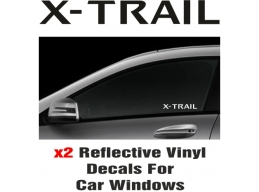 Nissan X-Trail Window Decal Sticker Graphic Reflective Vinyl x2 decals | Stick and Glow Reflective..