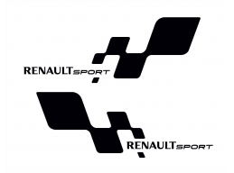Renault Sports Decal Sticker Graphic Reflective Vinyl x2 decals | Stick and Glow Reflective Decals