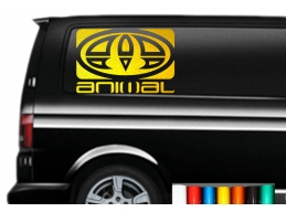2x Reflective Extra LARGE ANIMAL LOGO car graphic sticker decals Vinyl camper van surf | Stick and..