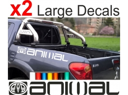 2x Reflective LARGE ANIMAL LOGO car graphic sticker decals Vinyl camper van surf | Stick and Glow ..