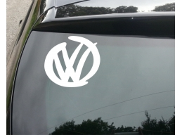 VW LOGO DESIGN SURF Funny Car/Window JDM VW EURO Vinyl Decal Sticker T4 | Stick and Glow Reflectiv..