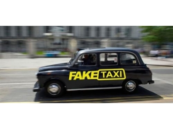Fake Taxi Sticker Decal Funny Jdm Drift Turbo Hoon Race Car Stick And Glow Reflective Decals
