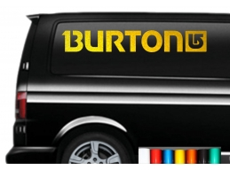 2x Reflective BURTON logo Sticker Decal - Car Van Window VW JDM DUB Snow-Board surf t4 t5 | Stick ..