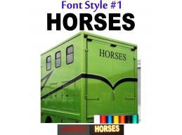 2x Reflective Horses - Horsebox Stickers / Decals Style 1 | Stick and Glow Reflective Decals