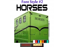 2x Reflective Horses - Horsebox Stickers / Decals Style 2 | Stick and Glow Reflective Decals