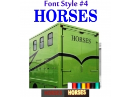 2x Reflective Horses - Horsebox Stickers / Decals Style 4 | Stick and Glow Reflective Decals