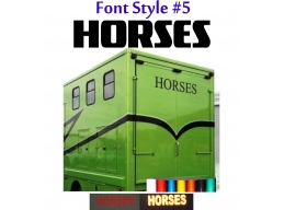 2x Reflective Horses - Horsebox Stickers / Decals Style 5 | Stick and Glow Reflective Decals