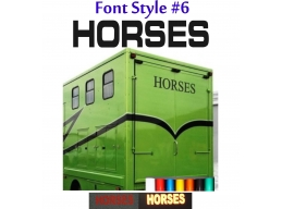 2x Reflective Horses - Horsebox Stickers / Decals Style 6 | Stick and Glow Reflective Decals