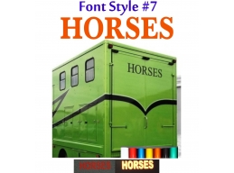 2x Reflective Horses - Horsebox Stickers / Decals Style 7 | Stick and Glow Reflective Decals