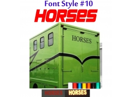 2x Reflective Horses - Horsebox Stickers / Decals Style 10 | Stick and Glow Reflective Decals