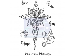 Sweet Dixie Christmas Star - Clear Stamps