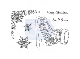 Sweet Dixie Ice Skate - Clear Stamps