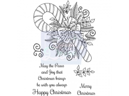 Sweet Dixie Decorative Candy Cane - Clear Stamps