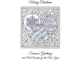 Sweet Dixie Baubles in Frame - Clear Stamps