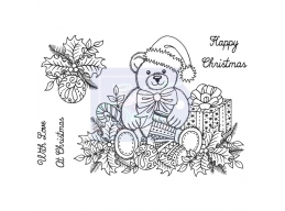 Sweet Dixie Christmas Teddy - Clear Stamps