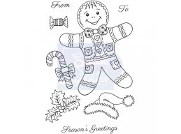Sweet Dixie Gingerbread Man - Clear Stamps