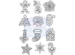 Sweet Dixie Mini Christmas Images - Clear Stamps