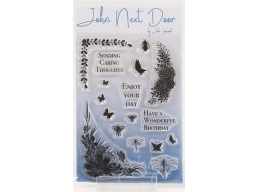 John Next Door Clear Stamp - Butterfly Corners 17pcs