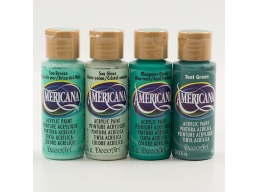 DecoArt Amercicana Pack of 4 Acrylic Paint Seascape