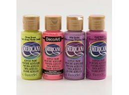 Decoart Amercicana Pack of 4 Acrylic Paint Brights