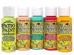 Decoart Patio Outdoor Paint 5 Set - Garden Brights Set 7