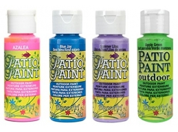 Decoart Patio Outdoor Paint 4 Set - Garden Brights mk2