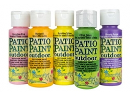 Deco Art Patio Outdoor Paint 5 Set - Garden Brights Set 3