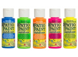 Deco Art Patio Outdoor Paint 5 Set - Neons