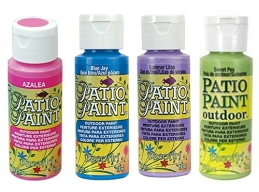 Decoart Patio Outdoor Paint 4 Set - Garden Brights