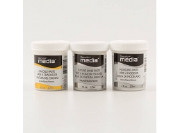 DecoArt 3 Pack of White Crackle Paste, Texture Sand Paste & White Modelling
