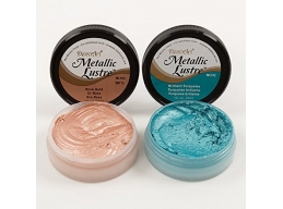 DecoArt Lustres Twin Pack 1 Rose Gold & 1 x Brilliant Turquoise 1oz