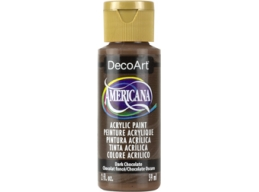 Dark Chocolate - 2oz DecoArt Americana Acrylic Paint