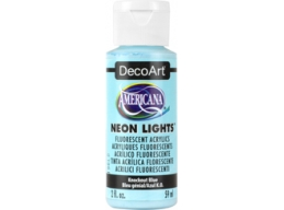 Knockout Blue Neon Lights - 2oz DecoArt Americana Acrylic Paint