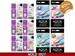 Spectrum Aqua Pens x 24 New Colours Collection w..