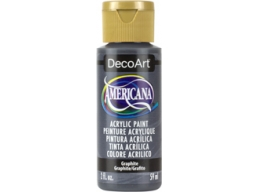Graphite - 2oz DecoArt Americana Acrylic Paint